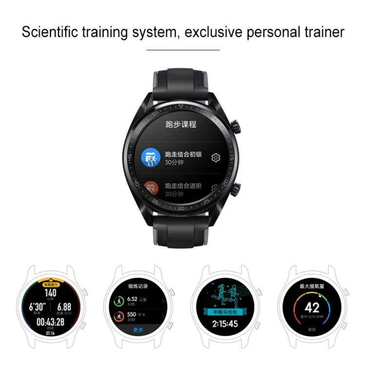 Original HUAWEI WATCH GT Sport Wristband 5ATM Waterproof Blue tooth Fitness Tracker Smart Watch with Heart Rate and so on
