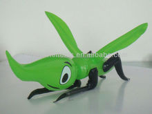 Green pvc inflatable insect toy , promotional plastic animal toy