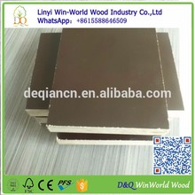 Linyi china film faced shuttering plywood Plywood phenolic film faced plywood