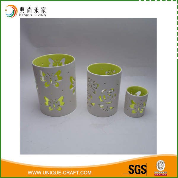 Easter occasion Ceramic butterfly design candle holder sets decoration