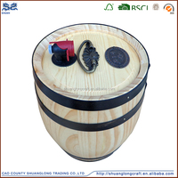 factory price handicraft cheap used wooden wine barrels for sale