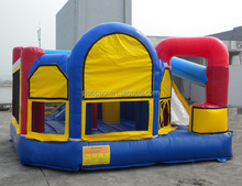 Cheap commercial inflatable bouncer combo with slide for home party,inflatable bounce house