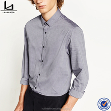 Chinese wholesaler high quality men office long sleeve uniform fancy design men shirt