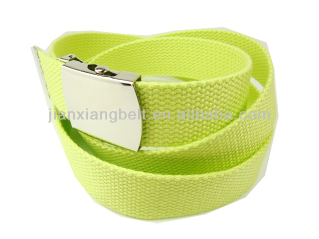 Lime Green Web Belt with Buckle