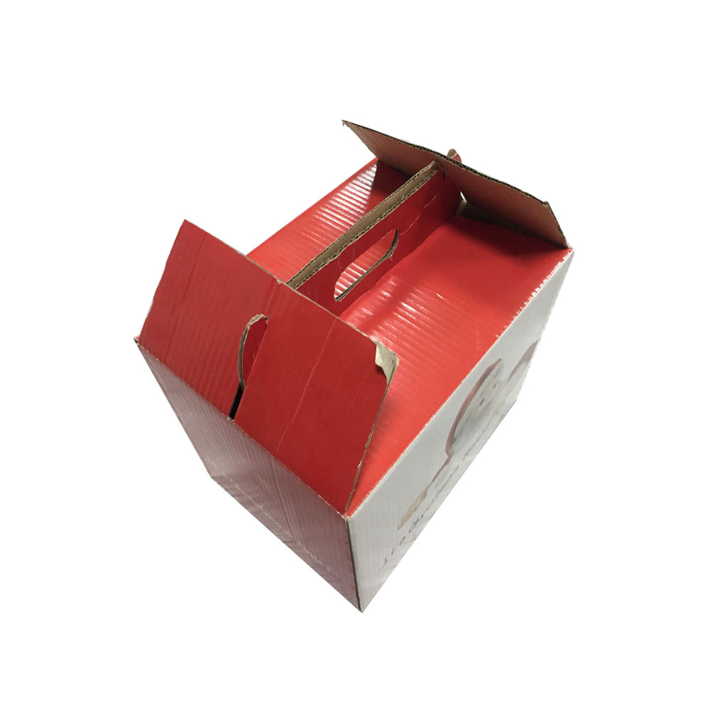 handmade fancy cardboard gift custom design gable carton box with paper handle