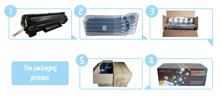 Compatible for HP CC388A,CB436A,CE285A, CE278A,Continuous Toner Supply Cartridge