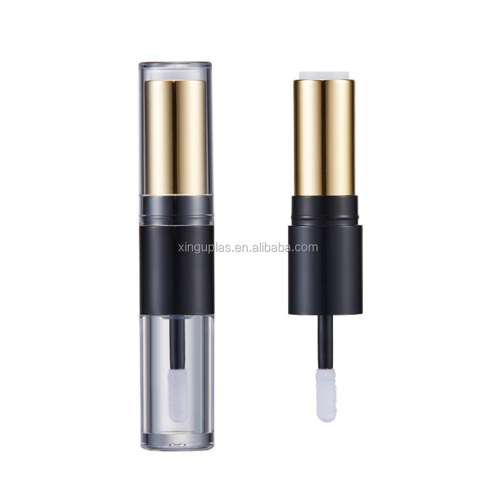 double end tube , one side lipstick one side lip gloss packaging