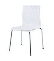modern design replica plastic chair with chromed legs stackable plastic dining chair wholesale for dining room furniture