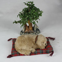 2014 wholesale new design special lovely lifelike sleeping puppy
