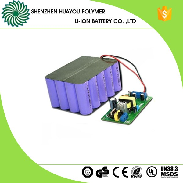 18650 10.4Ah 18V li-ion rechargeable battery pack with PCB and MOS