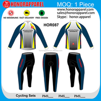 HONORAPPAREL cycling long sleeve jersey and pants set long sleeve football jersey
