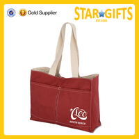 Lightweight 100% organic cotton canvas tote bag with custom printed logo