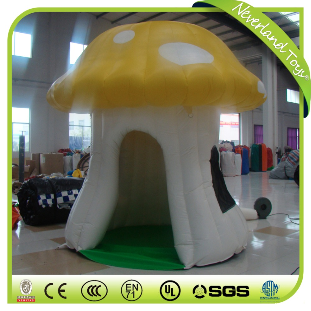 High Quality Neverland Toys Customize Inflatable Promotional Mushroom House Tent For Sale