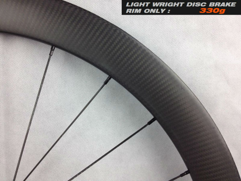 Customized UD&3K matte or glossy carbon disc road 700c wheel 50mm
