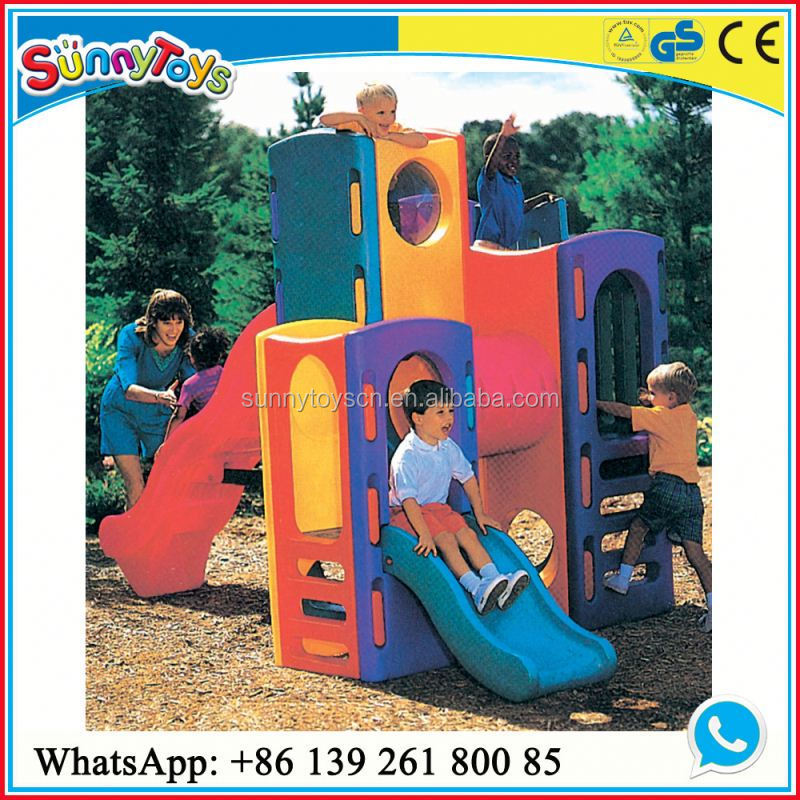 Kindergarten playground outdoor playground slide roof