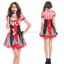 Instyles Sexy Circus Outift Cirque Clown Jester Fancy Dress Halloween Party Costume