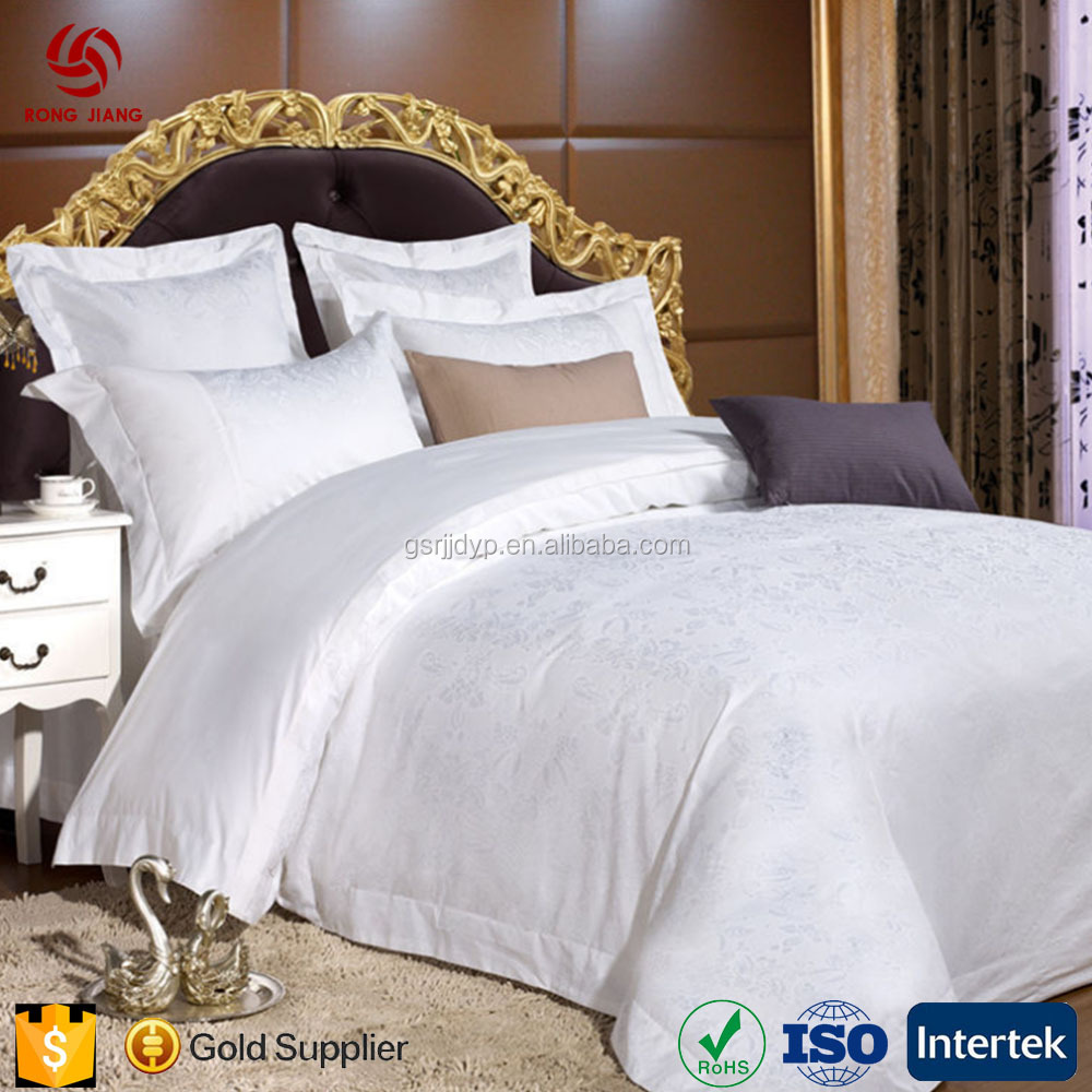 5 Star Hotel Luxurious Bed Sheets Set Professional Hotel Textile Suppliers