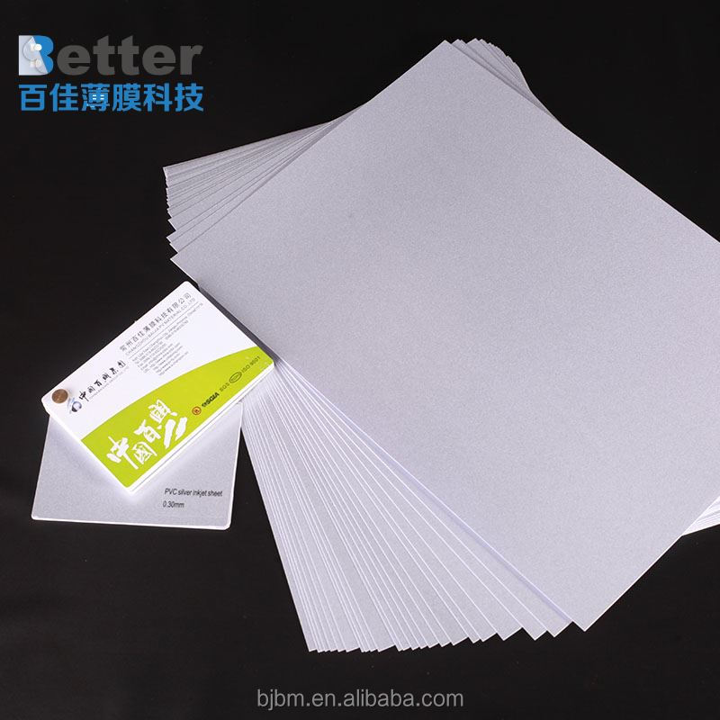 Clear credit card size ID white blank plastic pvc cards