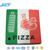 Food grade logo print paper cardboard pizza box for motorcycle