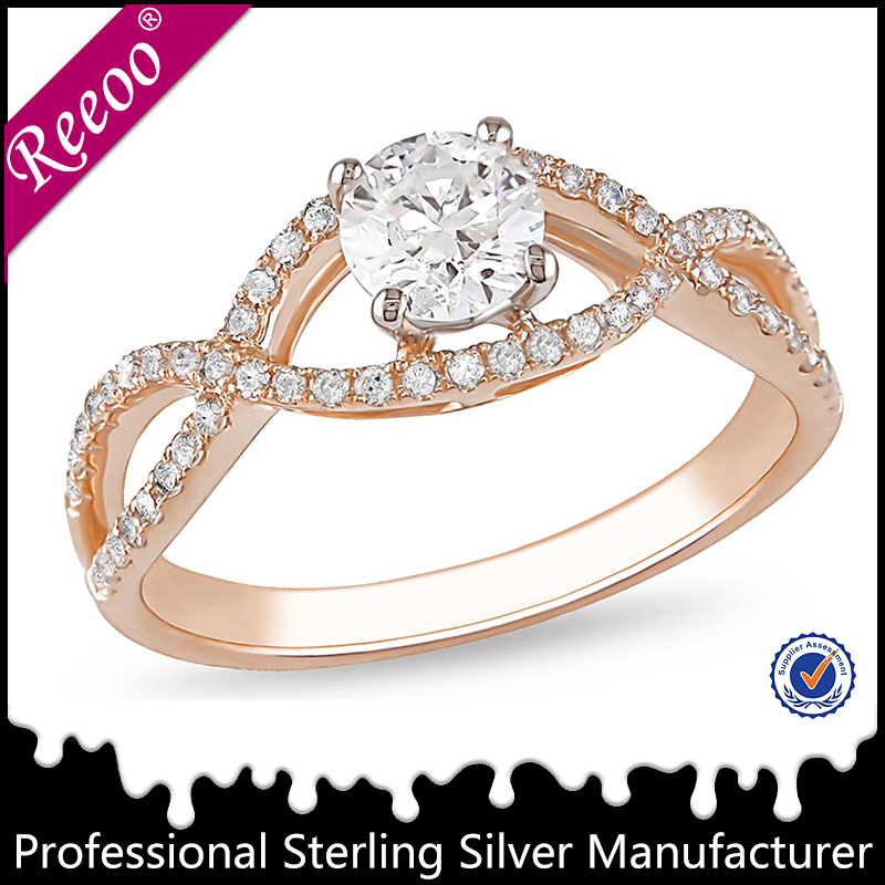 Wholesale High Quality Gold Ring Jewelry Diamond Engagement Ring