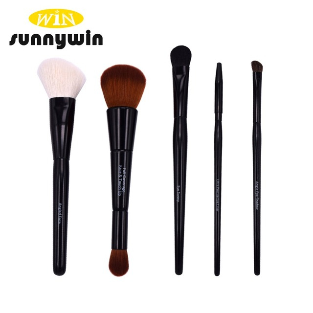 Classic Black Prime Good Quality Foundation and Eye Makeup Brush Set