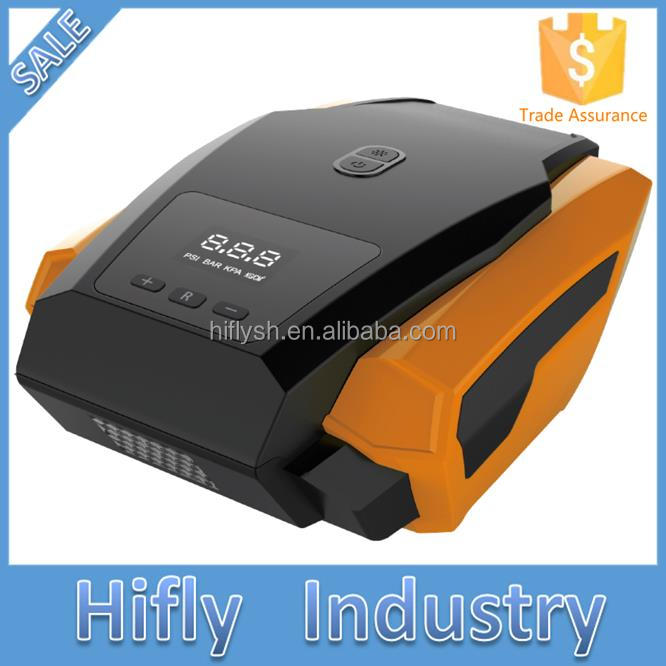 HF3601S LED Light Digital Pre-set Portable 12V 260PSI Car Tire Inflator Mini Digital Compressor Auto Stop Car air compressor