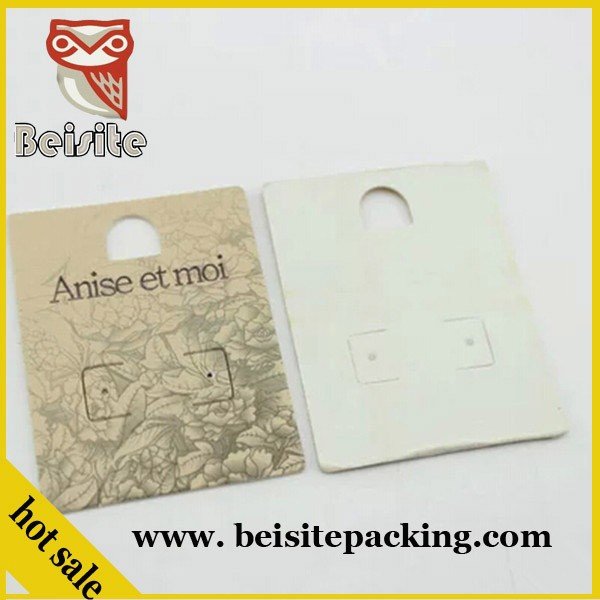 high quality custom necklace display printed earring paper cards,custom earring cards with logo