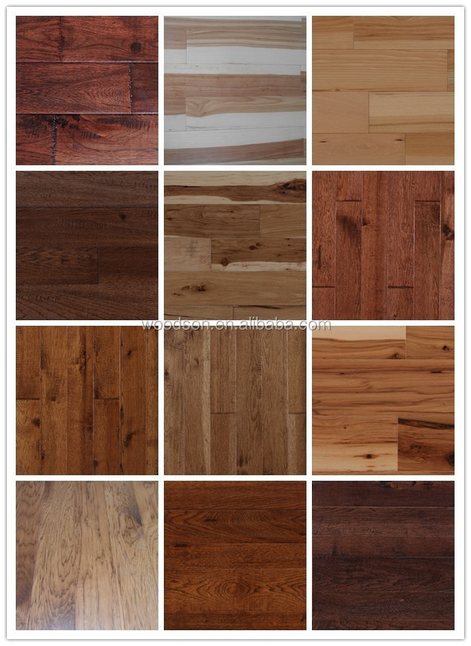 Antique Handscraped Toffee Hickory Solid Wood Flooring