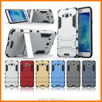 Low price mobile phone Rugged Hard Robot Back Cover Stand Holder kickstand mobile phone case for samsung J7 china suppliers