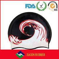 Fashionable Seepdo Quality Adult and Kid sizes customized logo printed waterproof silicone swimming cap