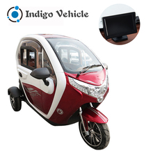 New energy electric tricycle motorcycle covered 3 wheel etricyclefor commuting