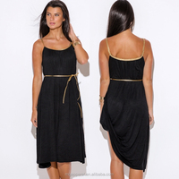 latest wholesale black jersey midi backless dress patterns for women
