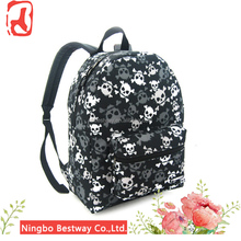 Customized skull school bag wholesale polyester skull bags
