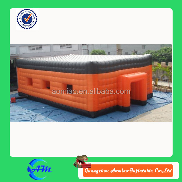 Nice Flat Top Orange and Black inflatable tent inflatable camping tent with windows