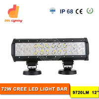 Hot selling lightbar 72w bar led atv lights driving light 12inch forklift excavator utv suv