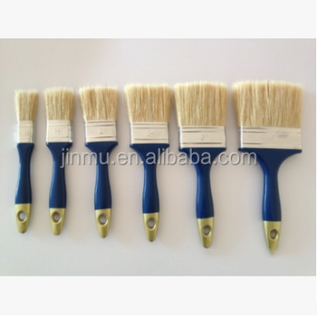 Colorful longer hog hair plastic handle paint brush