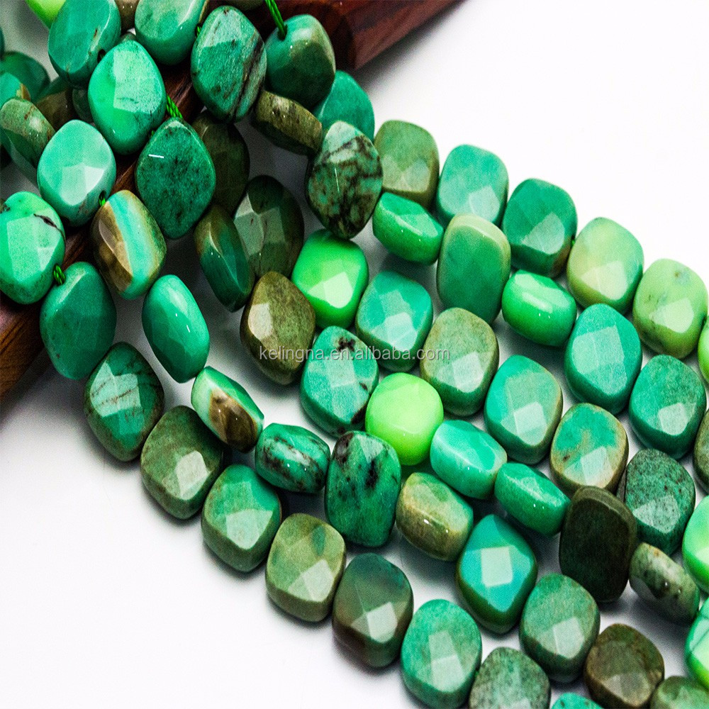 Hot Selling Chrysoprase Agate Faceted Cube Gemstone Beads