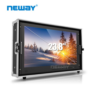 23.8 inch Professional Broadcast Monitor 4k for director with Quad View