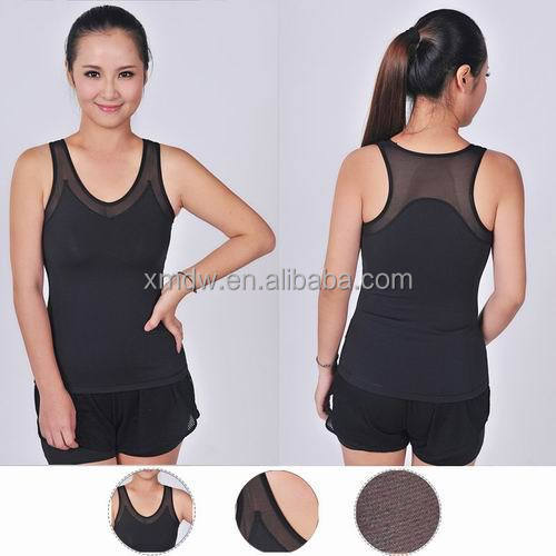 2015 V neck new ladies fashion new tops wholesale yoga women tank top