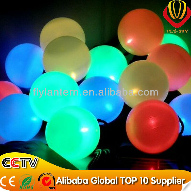 various colors led glowing balloon with CE & ROHS Certificate