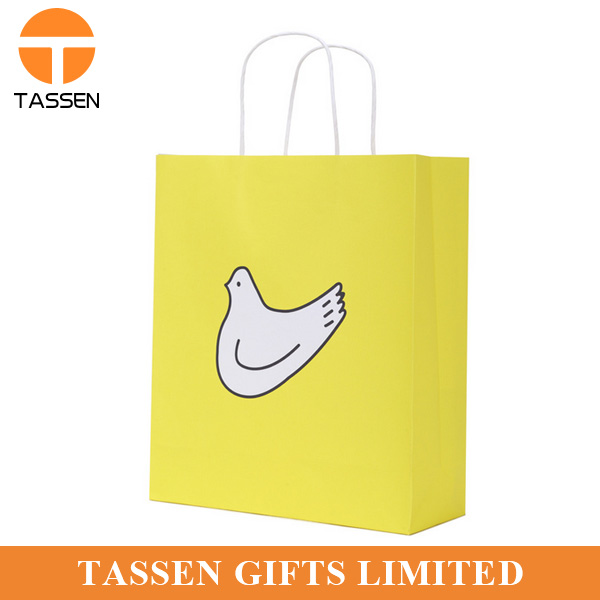 promotional banana paper bag paper rope bag fruit gift bag no MOQ