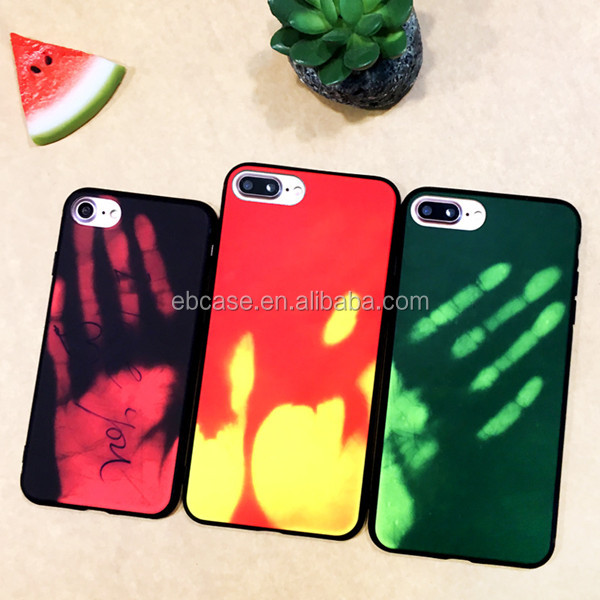 Alibaba wholesale heat sensitive color changing thermo phone case for iPhone 7