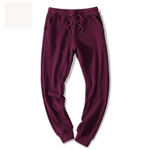 Winter Custom Workout Pants Fleece Fabric Plain Solid Color Plus Oversized Maroon Track Man Sweat Jogger Pants