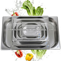 LFGB & NSF Approve Heavy Duty Stainless Steel gn pan kitchen mate