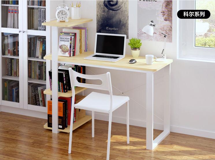 New Design Cheap Modern Wooden Desk With Book Shelf Computer Table ...
