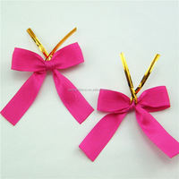 Professional custom luxury Ribbon bow for packaging decorative edelweiss flowers