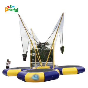 Excited inflatable bungee jumping trampoline for rental