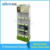 Custom Brochure Book/Hair Colour Products Honey Comb Board/Cardboard/Foam Board Display Stand