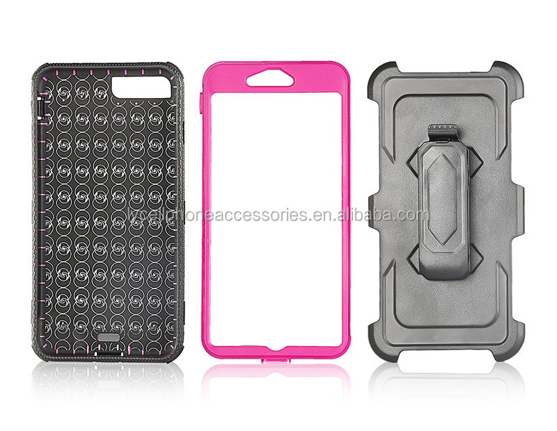Rugged Armor Shockproof Hybrid Hard Clip Holster Case Cover for Iphone 7 Plus