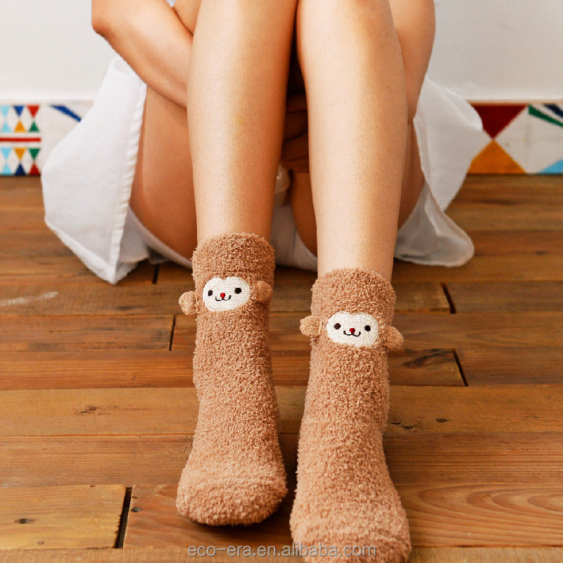 Christmas Items 100% Cotton Fuzzy Socks Cheap Wholesale Girls' Socks